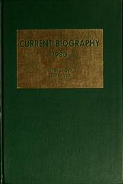 Cover of: Current biography yearbook, 1980 by Charles Moritz
