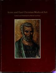 Cover of: Icons and East Christian works of art