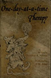 Cover of: One-day-at-a-time therapy