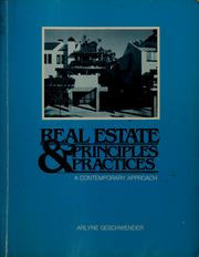 Cover of: Real estate principles & practices