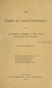 Cover of: The crest of the continent