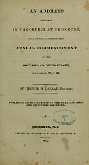 Cover of: An address...commencement