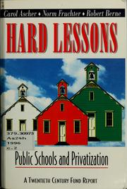 Cover of: Hard lessons