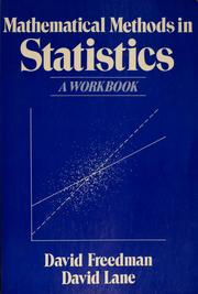 Cover of: Mathematical methods in statistics | David Freedman