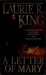 Cover of: A letter of Mary | Laurie R. King