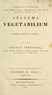 Cover of: Systema vegetabilium