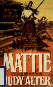 Cover of: Mattie | Judy Alter