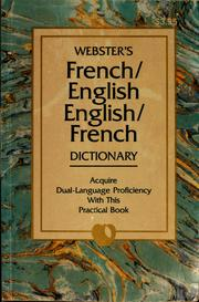 Cover of: French/English, English/French dictionary |