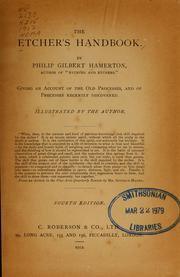 Cover of: The etcher's handbook