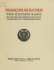 Cover of: François Boucher