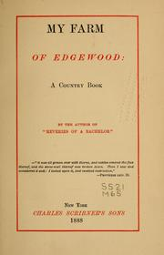 Cover of: My farm of Edgewood