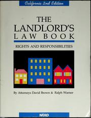 Cover of: The landlord's law book