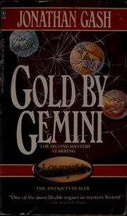 Cover of: Gold by Gemini | Jonathan Gash