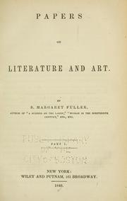 Cover of: Papers on literature and art