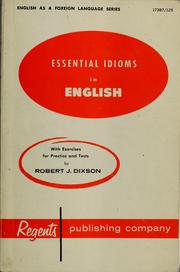 Cover of: Essential idioms in English for the foreign born