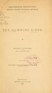 Cover of: The humming birds