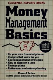 Cover of: Money management basics