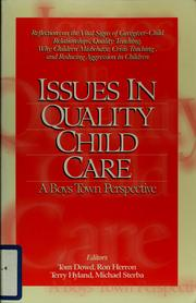 Cover of: Issues in quality child care