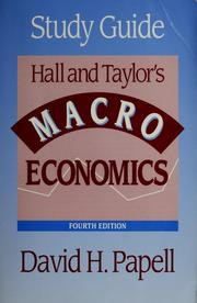 Cover of: Study guide, Hall and Taylor