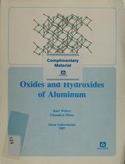 Cover of: Oxides and hydroxides of aluminum