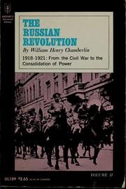 Cover of: The Russian revolution, 1917-1921