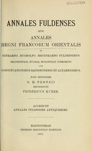 Cover of: Annales fuldenses