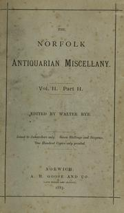 Cover of: The Norfolk antiquarian miscellany