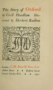 Cover of: The story of Oxford