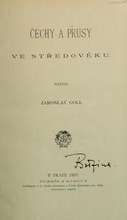Cover of: Čechy a Prusy ve Stredověku