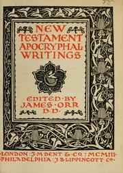 Cover of: New Testament apocryphal writings