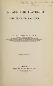Cover of: St. Paul the traveller and the Roman citizen