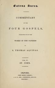 Cover of: Catena aurea | Thomas Aquinas