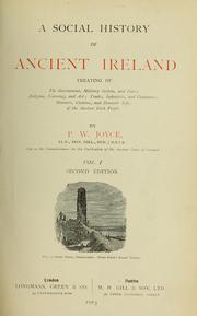 Cover of: A social history of ancient Ireland