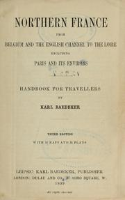 Cover of: Northern France by Karl Baedeker (Firm)