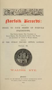 Cover of: Norfolk records ... | Norfolk and Norwich Archaeological Society