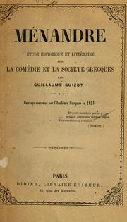 Cover of: Ménandre