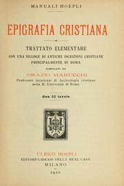 Cover of: Epigrafia cristiana