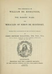 Cover of: The chronicle of William de Rishanger, of the barons' wars