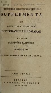 Cover of: Brevior notitia litteraturae romanae in primis scriptorum latinorum