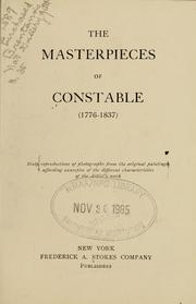 Cover of: The masterpieces of Constable (1776-1837)