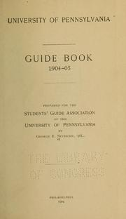 Cover of: University of Pennsylvania guide book, 1904-05 | Nitzsche, George Erasmus
