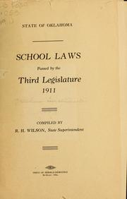 Cover of: School laws passed by the third Legislature, 1911 | Oklahoma