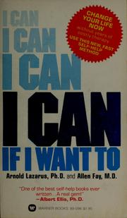 Cover of: I can if I want to
