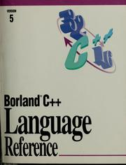 C++ language reference by Borland International