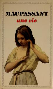 Cover of: Une vie | Guy de Maupassant