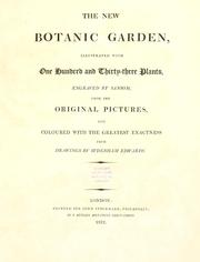 Cover of: The new botanic garden