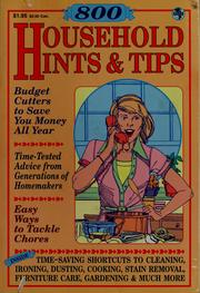 Cover of: Over 800 household hints & tips