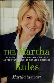Cover of: The Martha rules