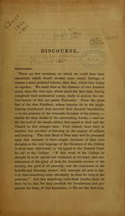 Cover of: A discourse delivered before the Society of the alumni of Harvard university