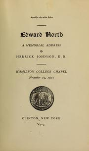 Cover of: Edward North